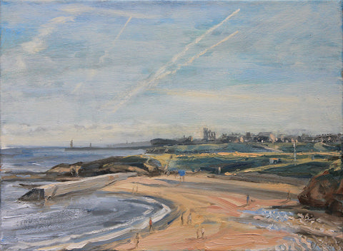 Cullercoats Bay, Vapour Trails. (Print)