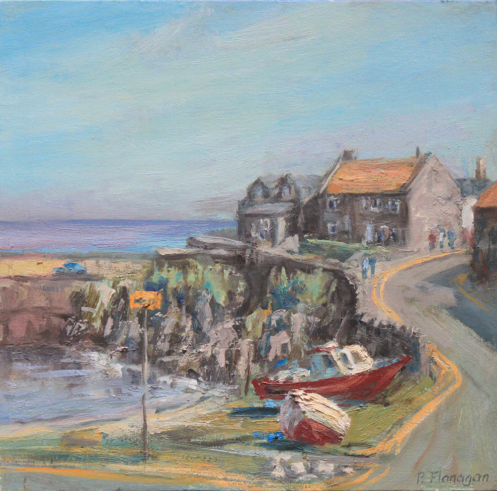 Craster Harbour, Summer Afternoon. (Print)