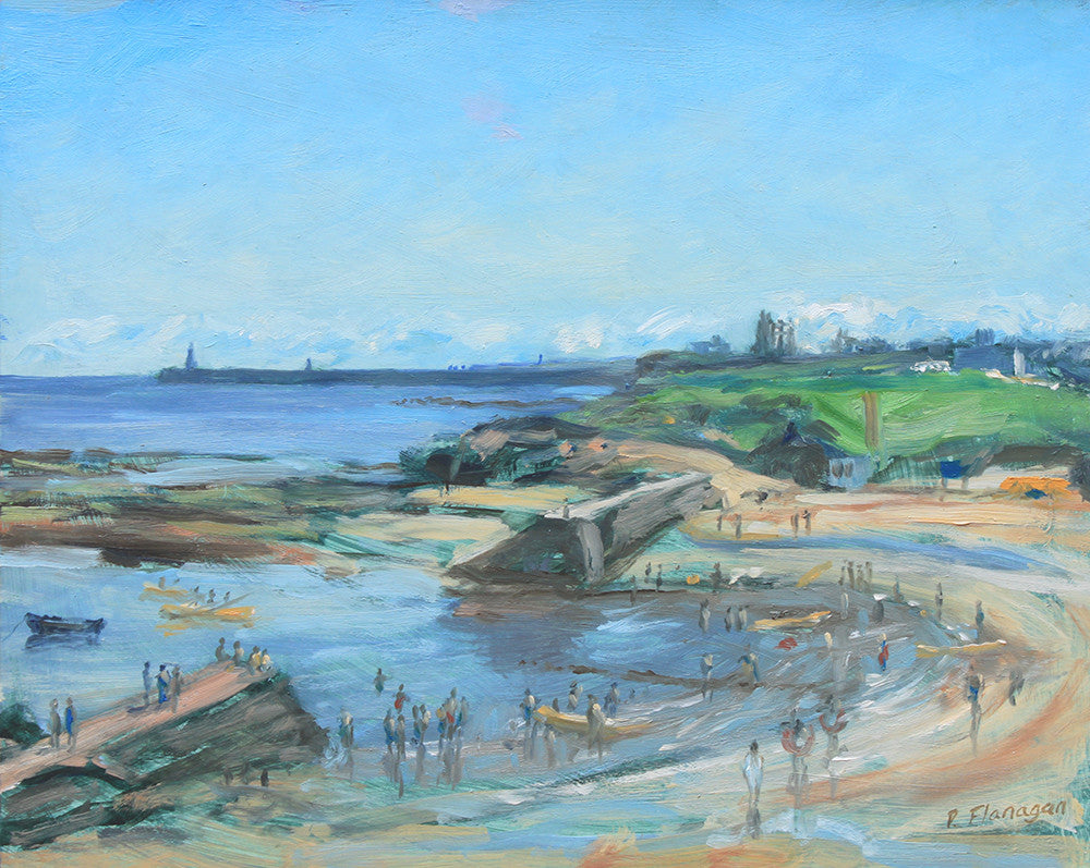 Cullercoats Bay, Heatwave. (contact Tallentyres Gallery, Morpeth).