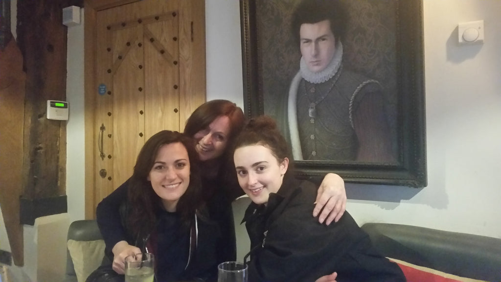 Julie, Ilona and Eliesha with Sid Vicious Looking on.