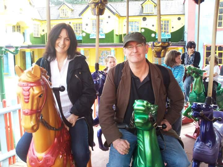 Julie and I on a Merry-go-round