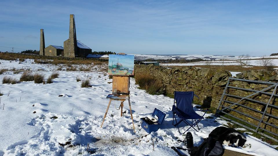 Plein Air Painting at Stublick Chimneys