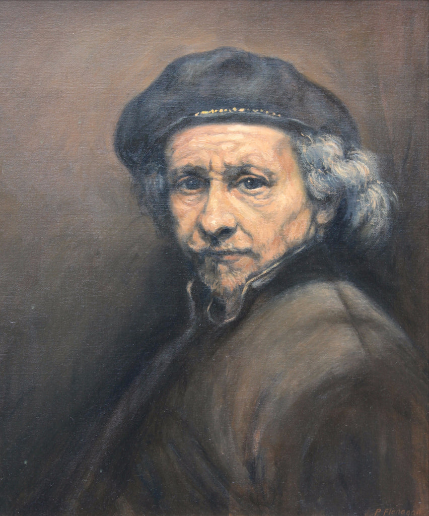 Rembrandt Self Portrait, copy