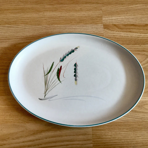 Denby Greenwheat Large Oval Plate