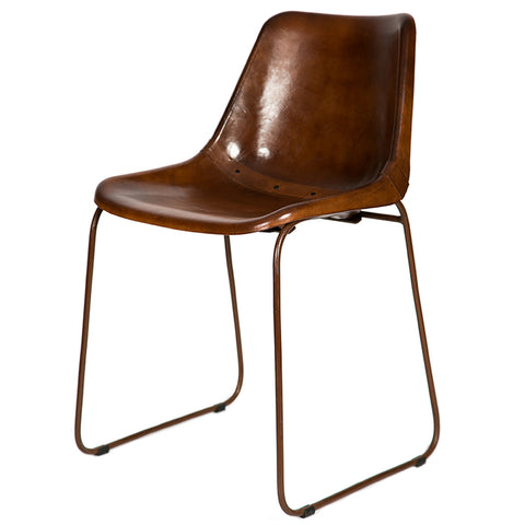 Leather 'vintage Cognac'  Dining Chair