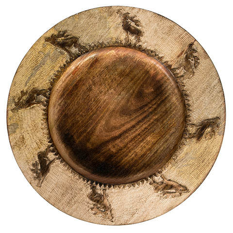 Stag Wooden Charger