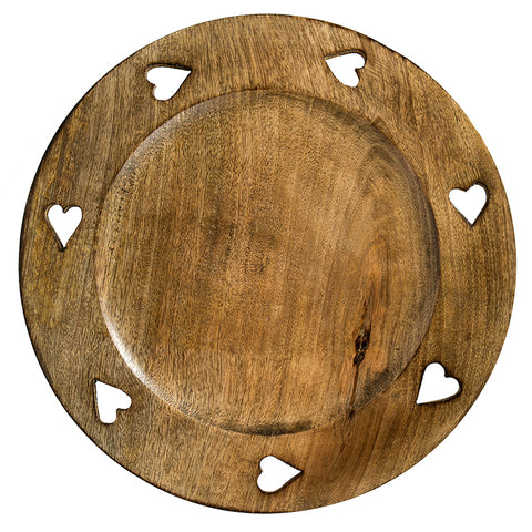 Sculpteurs Du Lac  Wooden Heart Charger