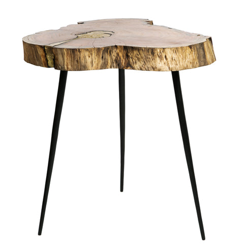 Grey Cowhide Chalet Stool