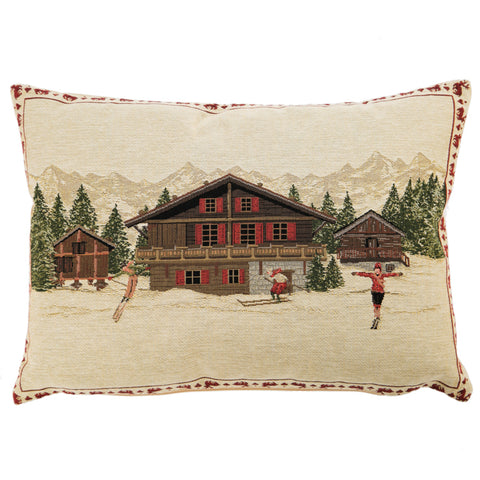 Gobelin Belgium Tapestry - Chalet Cushion