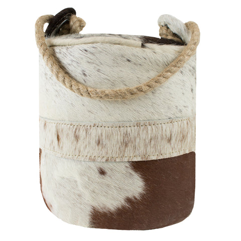 Multi Coloured Cylinder  Cowhide  Doorstop