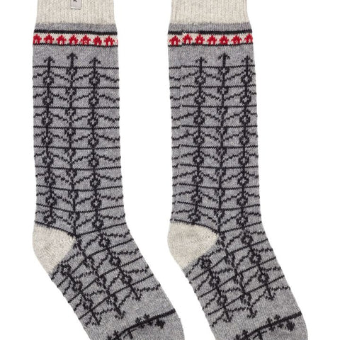 Swedish Wool Knee High Socks -Eksharad l