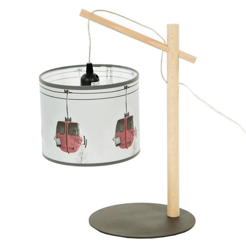 Hanging Lamp With Red Gondola Shade