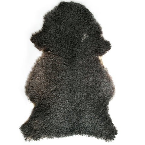 Dark  Grey Gotland Sheepskin