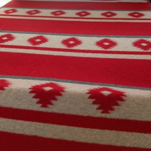 Navajo Style Red Blanket