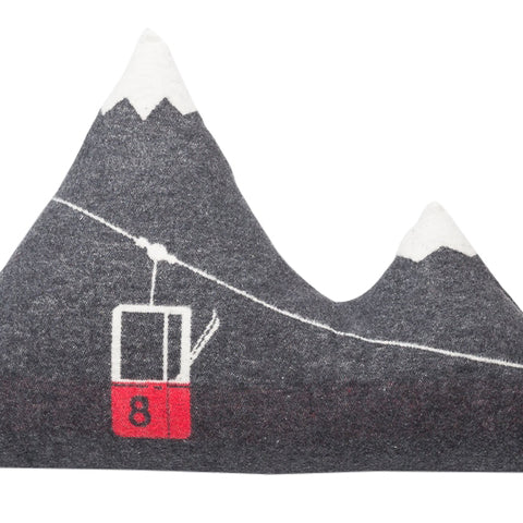 Mountain Peaks Cushion With Gondola