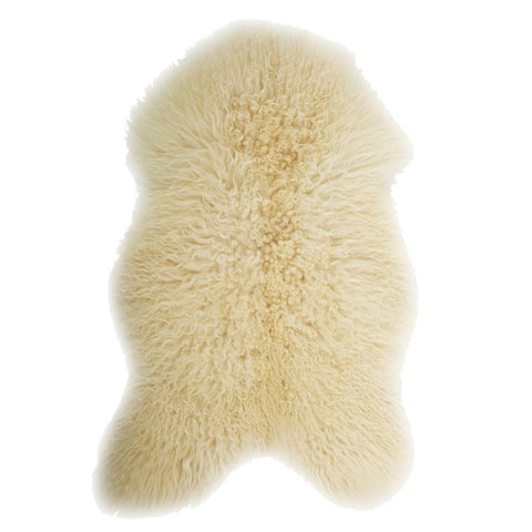 Natural White Curly Icelandic Sheepskin