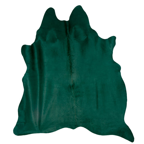 Teal Green Cowhide Rug
