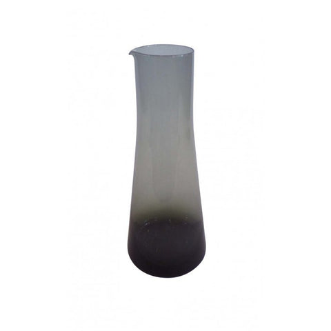 Hand Blown Black Carafe -Brume
