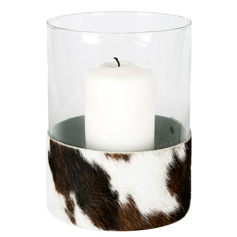 Angel des Montagnes Hurricane Lamp With Cowhide Band