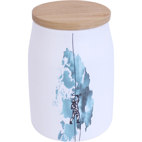 Airtight Storage Jar With Ice Climber Motif