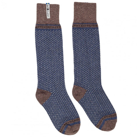 Swedish Woolen Knee High  Socks -Skafto Blue