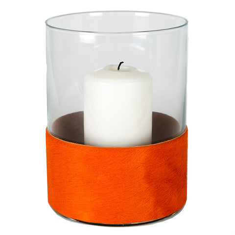 Angel Des Montagnes Orange Cowhide Hurricane Lamp