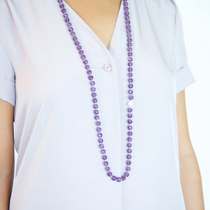 Amethyst with Mother of Pearl Necklace