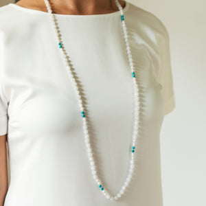 Moonstone, Mother of Pearl & Green Turquoise