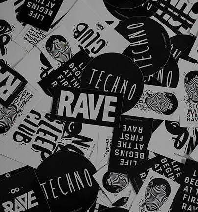 Techno und Rave Sticker
