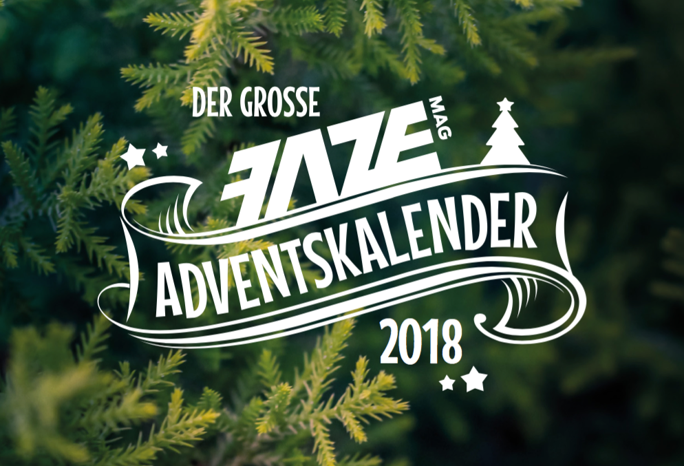 FazeMag Adventskalender 2018 mit RAVE Clothing