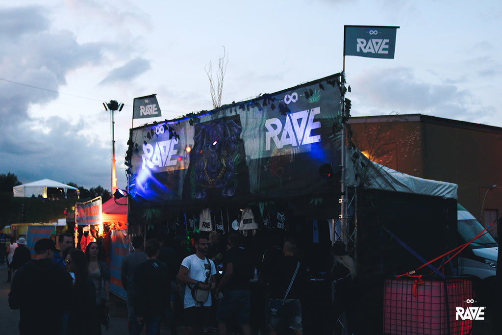 RAVE Clothing Nature One festival store
