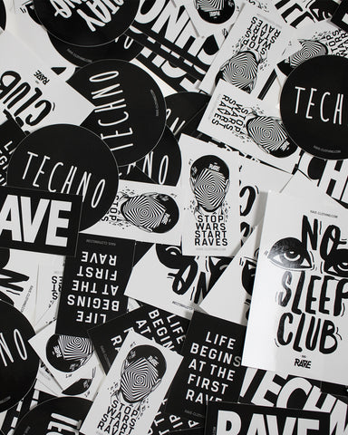 Techno, Rave und Festival Sticker