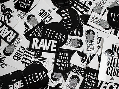 RAVE Clothing Accessoires & Techno Sticker