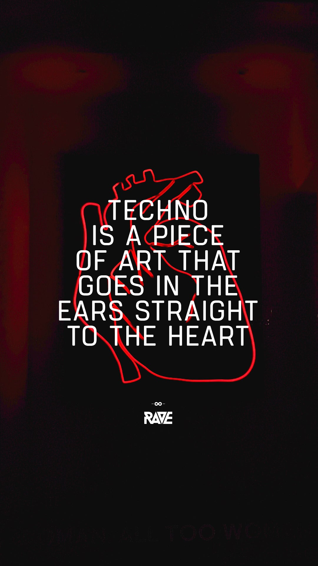 Techno is a piece of art that goes in the ears straight to the heart Wallpaper