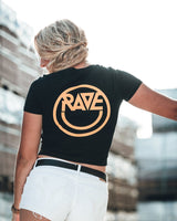 Acid RAVE Crop Top in black