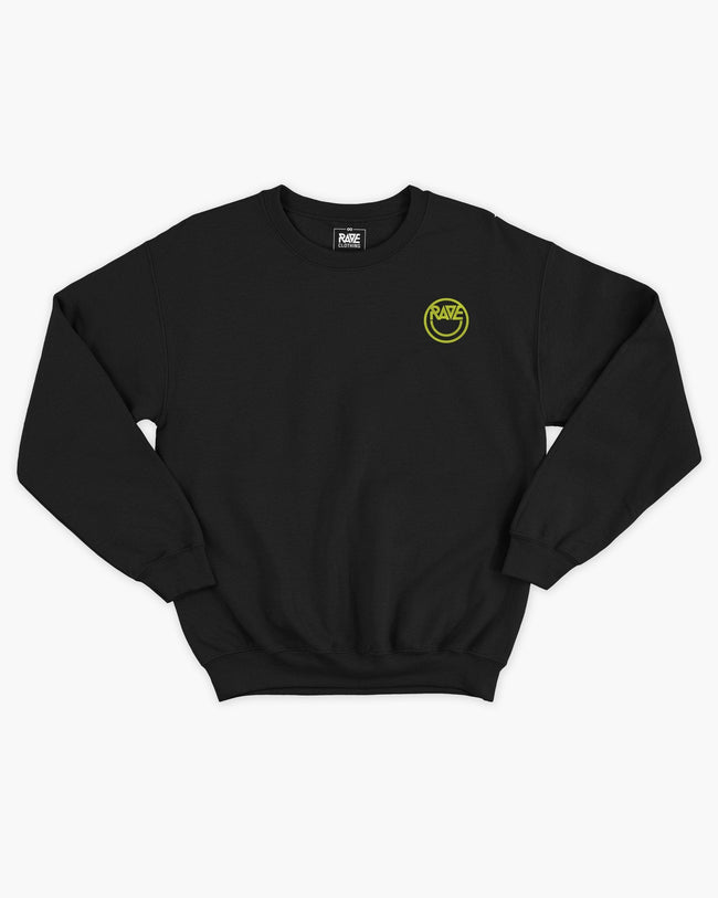 Acid RAVE Crewneck in black for women by RAVE Clothing