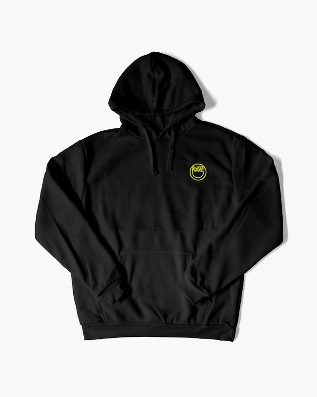 Acid RAVE hoodie in black for women by RAVE Clothing