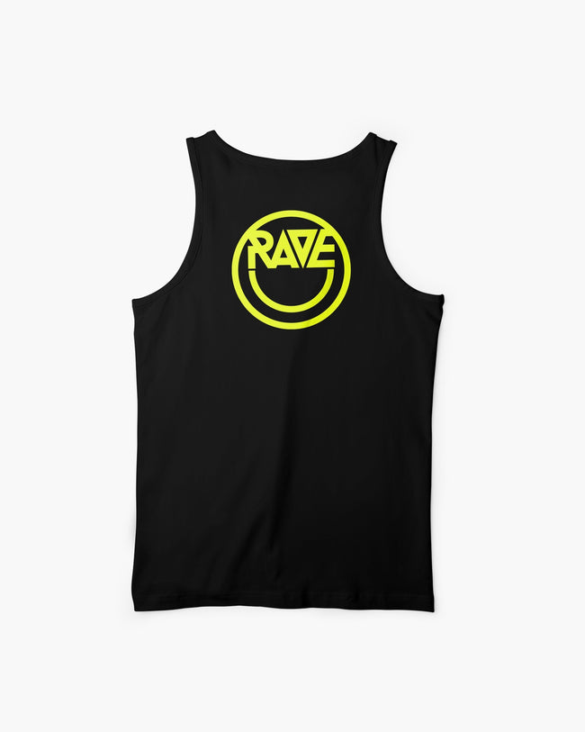 Black Acid RAVE tank top for men