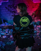 Acid Techno RAVE Crop Top für Frauen