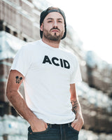 Acid t-shirt in white