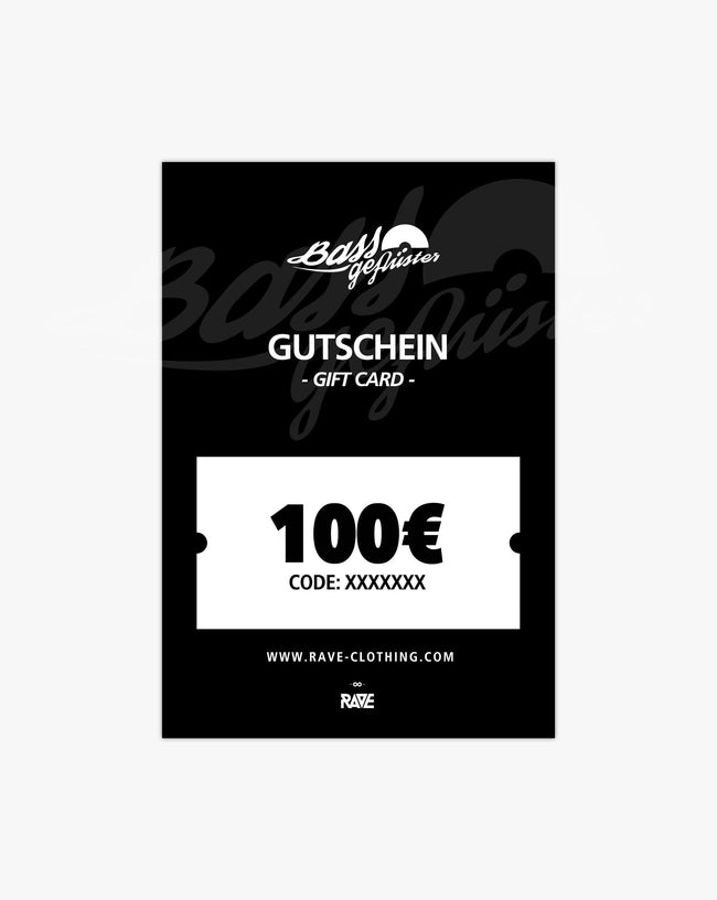 Bass whispers 100 € voucher from RAVE Clothing