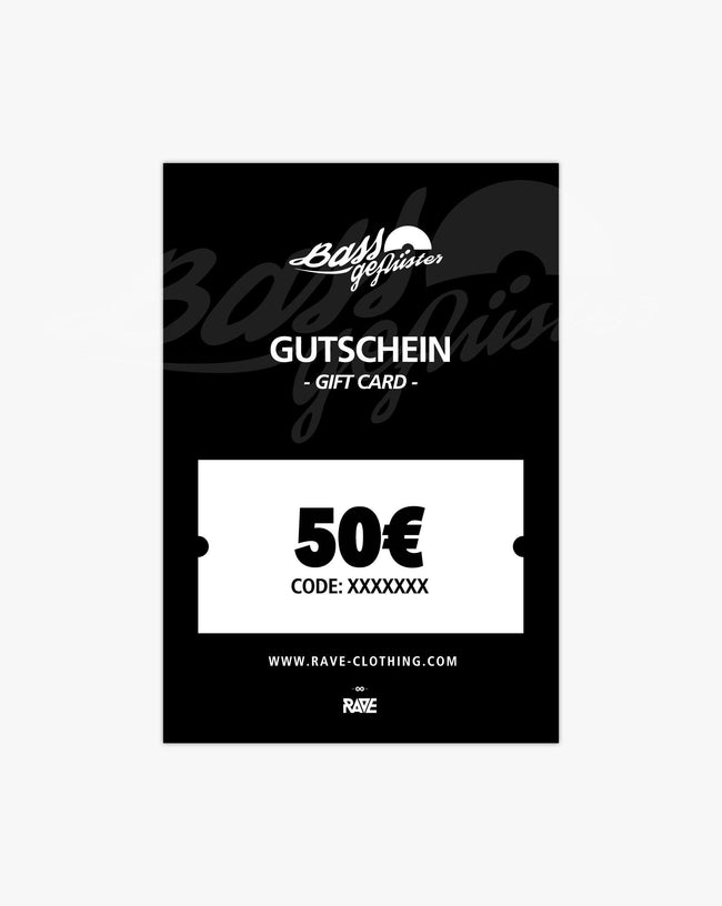 Bass whispers 50 € voucher from RAVE Clothing