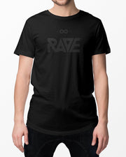 Dark RAVE t-shirt in black