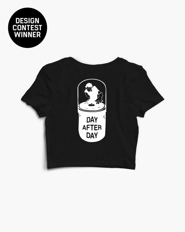 Day After Day Crop Top in black for women by RAVE Clothing