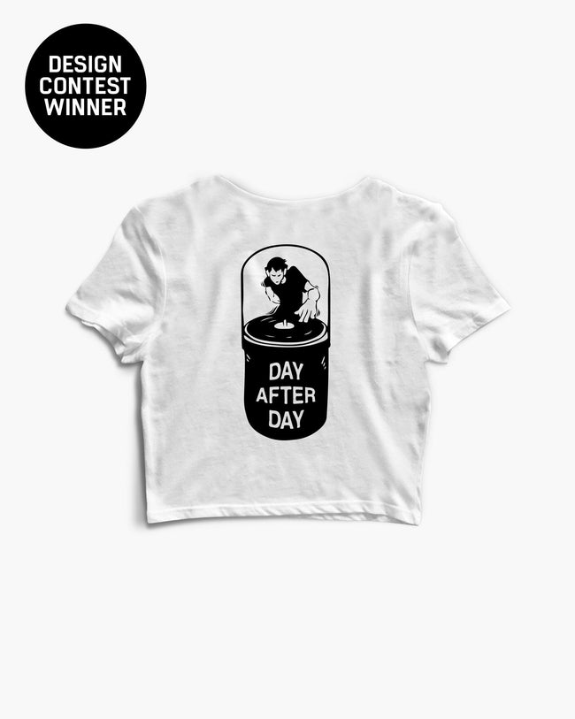 White day after day crop top for women