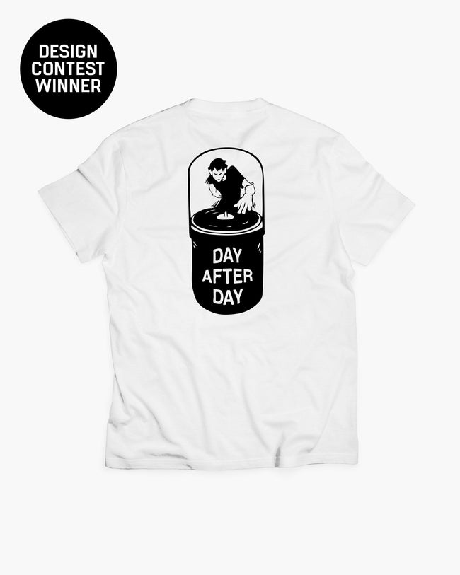 White day after day t-shirt for men