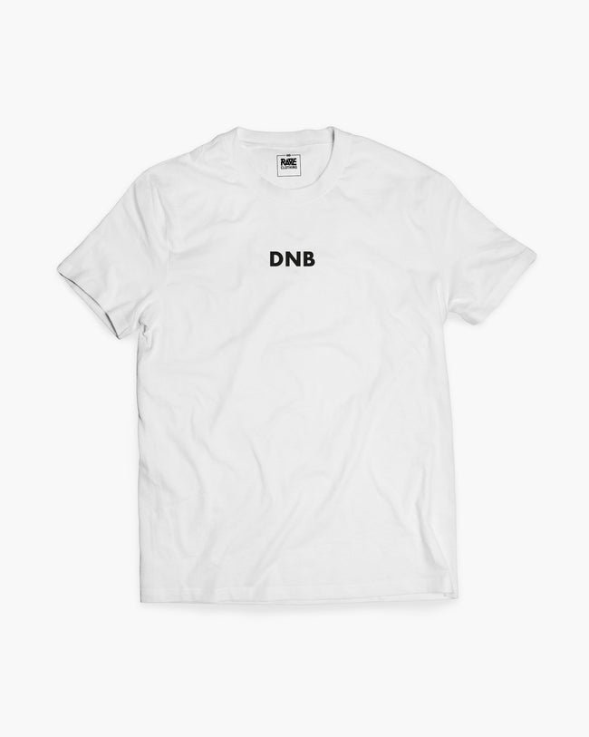 DNB T-shirt in white for men by RAVE Clothing