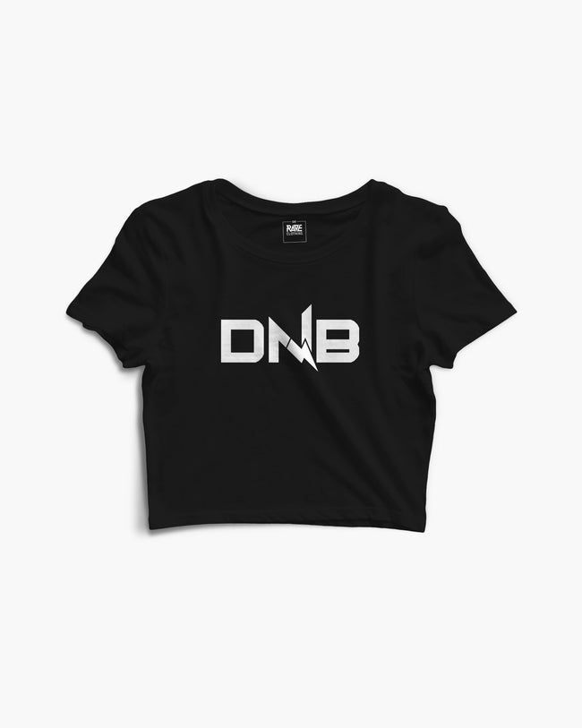 DNB Flash Crop Top in black for women by RAVE Clothing