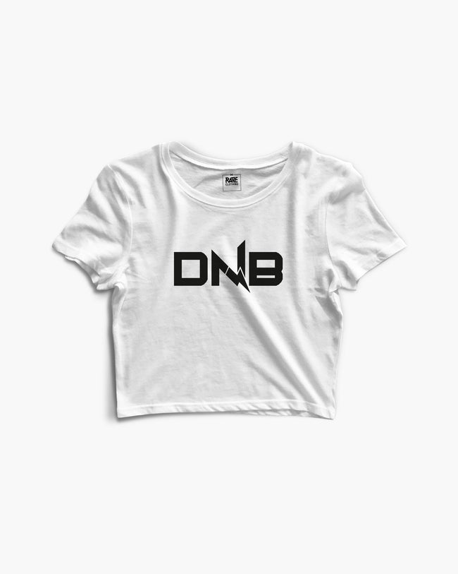 DNB Flash Crop Top in weiß für Frauen von RAVE Clothing