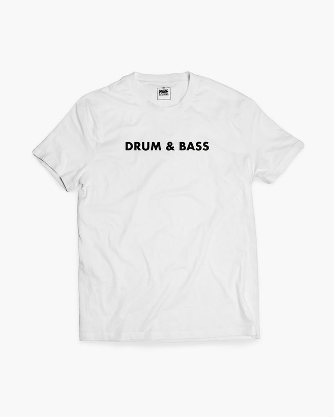 Drum & Bass T-shirt in white for men by RAVE Clothing